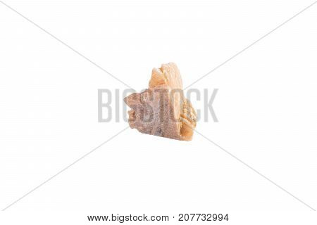 Desert Rose Stone From Tunisia Isolated On White