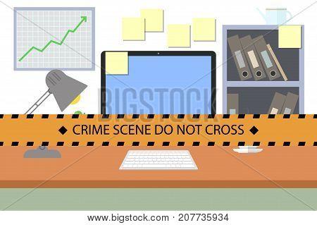 Crime Scene. Do Not Cross Police Line