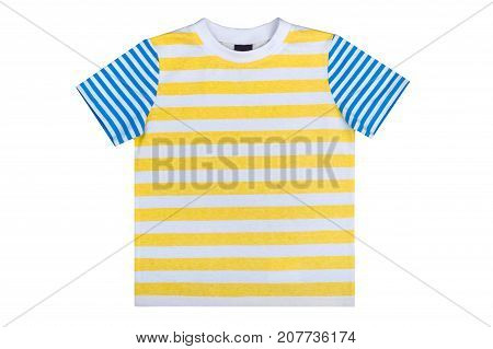 kidswear striped summer undershirt isolated on a white background
