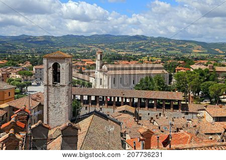 Panoramic view of the city of Gubbio (PG) - Italy