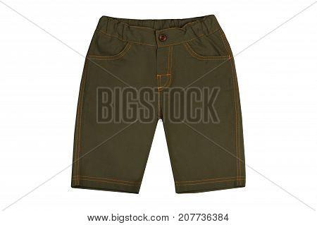 kidswear shorts isolated on a white background