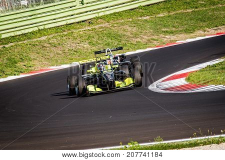 Vallelunga, Italy September 24 2017. Single Seater Formula Car In Action During The Race