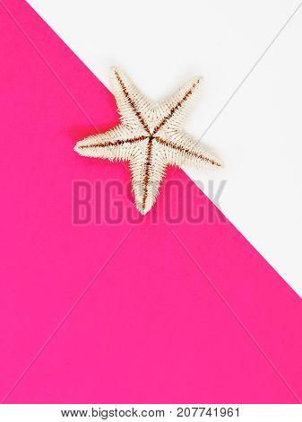 Minimal Style. Flat Lay. A Minimalistic Fashion Photo. Pop Art. A Colorful Simple Photograph Of Sea