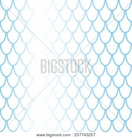 Fish scale seamless pattern with colorful gradient. Fish skin vector background. Scale ornament. Mermaid pattern. Blue fish skin seamless pattern tile. Mermaid background. Gradient shiny fishscale
