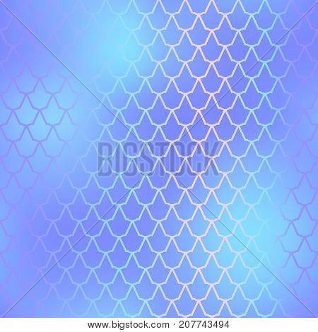 Fantastic fish skin vector background with scale pattern. Mermaid pattern. Pale gradient mesh. Abstract blurry vector background. Fish skin seamless pattern. Mermaid scale background. Blue fishscale
