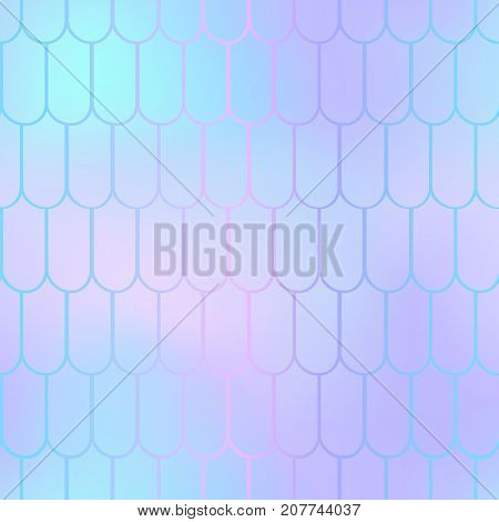 Fantastic fish skin vector background with scale pattern. Mermaid pattern. Pale gradient mesh. Abstract blurry vector background. Fish skin seamless pattern. Mermaid scale background. Pastel fishscale