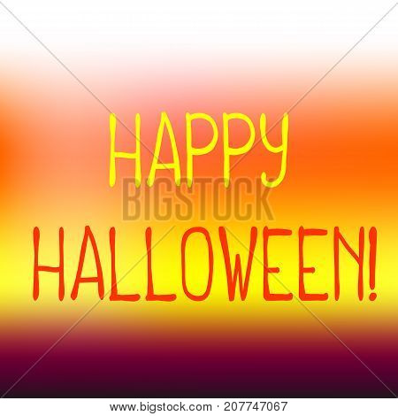 Happy Halloween vector background with orange and yellow color mesh. Happy Halloween minimalistic background. Sweet corn banner template. Candy corn colored wrapping paper. Halloween greeting card