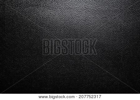 Black Leather Texture with gradient light used as luxury classic Background Design