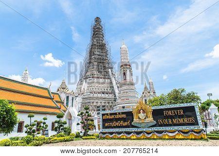 BANGKOK THAILAND-17 June 2017 The iconic Temple of Dawn Wat Arun Bangkok Thailand.