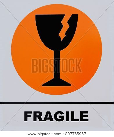 Photo of Fragile sign. This photo was taken from sign board.