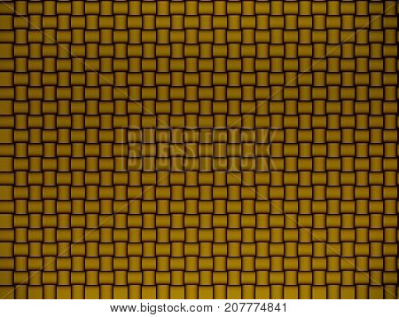 Weaved abstract gold background in retro style