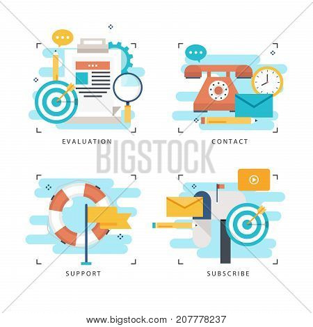 Customer service, customer assistance flat vector illustration. Technical support, online help, call center concept for web banner, business presentation, advertising material