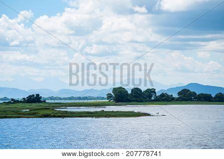 Parakrama Samudra is lake near Polonnaruwa, Sri Lanka