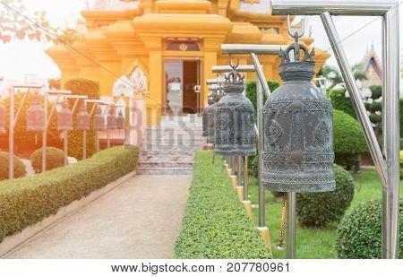 Old Bell At Wat Kroen Kathin Temple