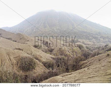 Scenery around Bromo Tengger Semeru National Park in Java a island of Indonesia