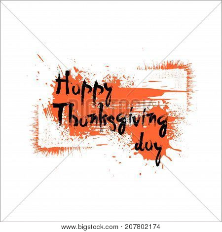 Happy Thanksgiving Day Autumn Traditional Holiday Banner Flat Vector Illustration