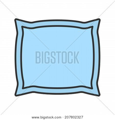 Pillow color icon. Cushion. Isolated vector illustration