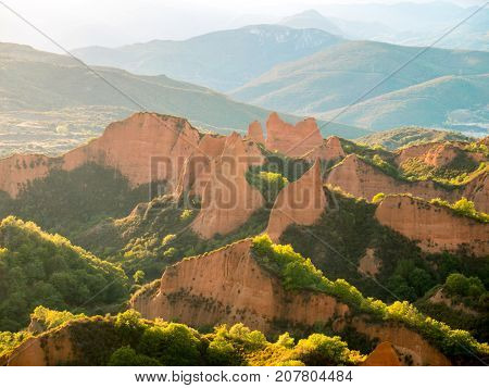 Las Medulas Historic Gold Mining Site.