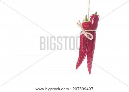 red hot chilli pepper on a white background