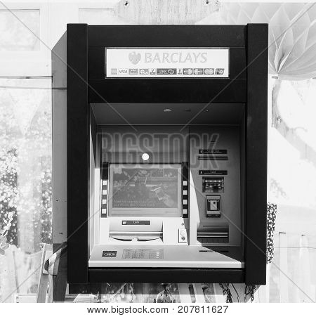 Automated Teller Machine (atm) In London Black And White