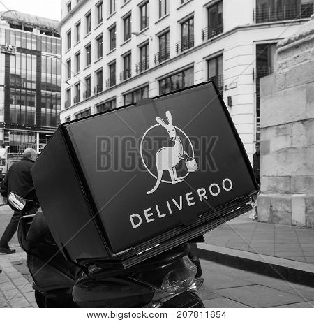 Deliveroo Bike In London Black And White