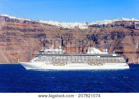 Cruise Ship, Santorini Island