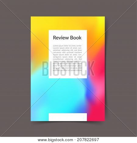 Modern bright color harmony office folder layout template. Fluid Colorful gradient cover Trendy background design. Vector illustration