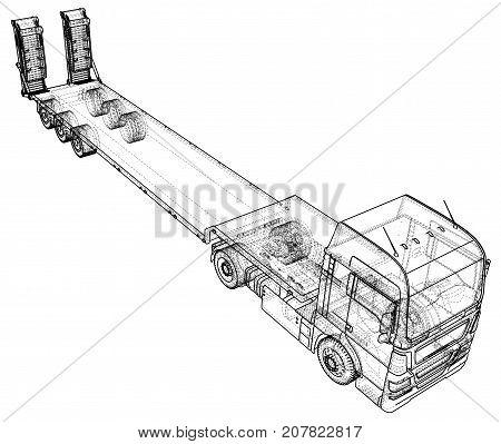 Flat Bed Truck Images Illustrations Vectors Free