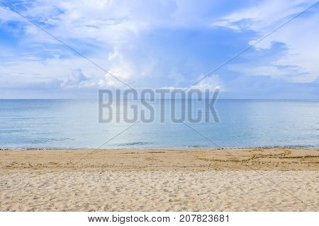 The overcast sky with cloud at sea at Chaolao Tosang Beach Chanthaburi Thailand.