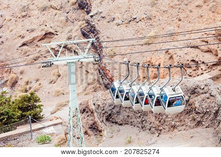 Santorini Cable Car, Fira