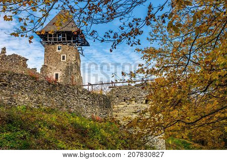 Tower And Wall Of Nevytsky Castle