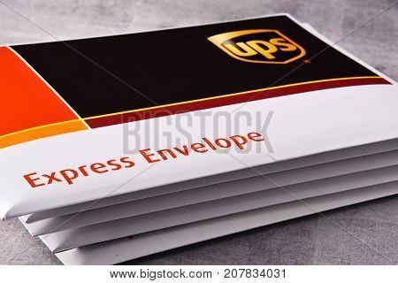 Envelopes Of Uinited Parcel Service Or Ups