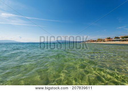 Paralia Fourkas beach Halkidiki Greece in Summer