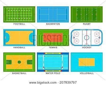 Sport game field vector ground line playground soccer green stadium grass background winner champion illustration. Ground line playground goal competition play team.