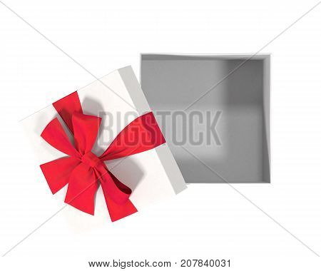open gift box top isolated on white 3d