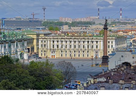 View On Palace Square In Saint Petersburg