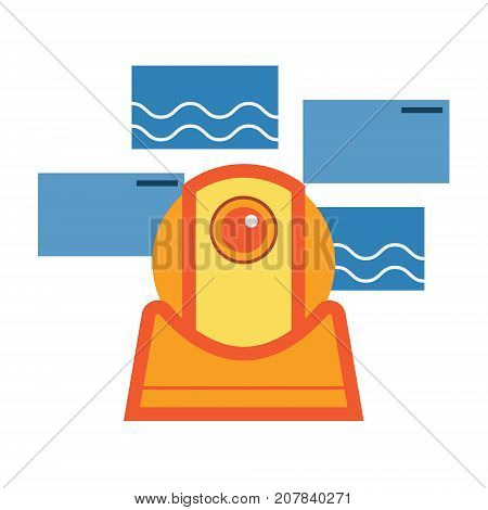 Surveillance bot security camera abstract icon. Surveillance robot concept illustration isolated vector. Transparent