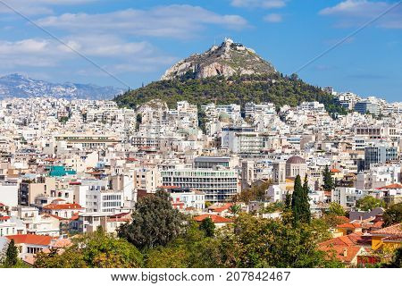 Mount Lycabettus In Athens