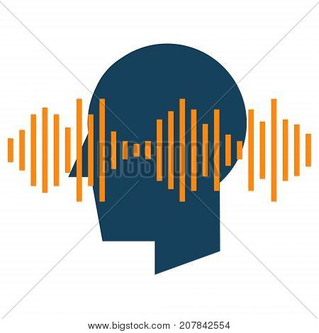 Audio spectrum waveform abstract icon. Speech recognition sound wave form signal for music, speech, recording and voice concept illustration isolated vector. Transparent