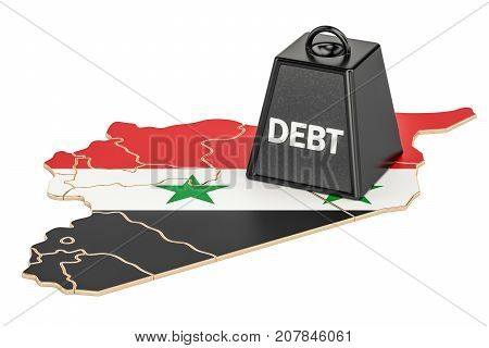 Syrian national debt or budget deficit financial crisis concept 3D rendering