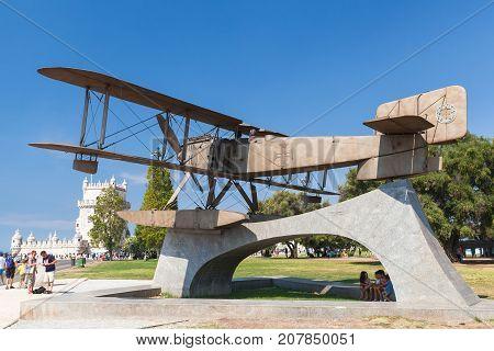Gago Coutinho Sacadura Cabral Plane Statue
