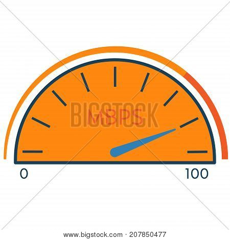 Speedometer internet speed traffic abstract icon. Data speed monitor concept illustration isolated vector. Transparent