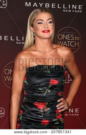 LOS ANGELES - OCT 4:  Lindsay Arnold at the 2017 People's Ones To Watch at the NeueHouse Hollywood on October 4, 2017 in Los Angeles, CA