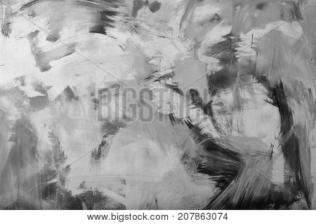 abstract colorful backdrop of acrylic gouache or watercolor paint vivid colors on flat textured wall background