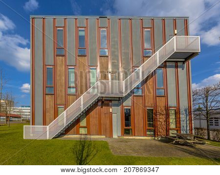 Sustainable Wooden Office Building