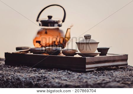 Tea Ceremony On The River Bank