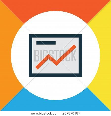 Premium Quality Isolated Chart Element In Trendy Style.  Presentation Colorful Outline Symbol.