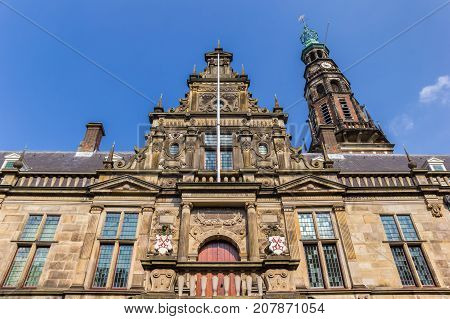 Facade Of The Main University Building Of Leiden