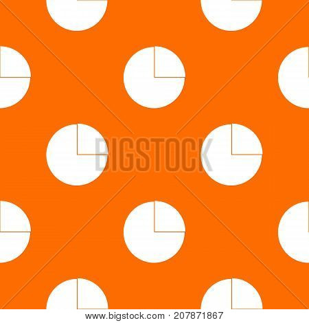 Graphs chart statistic pattern repeat seamless in orange color for any design. Vector geometric illustration