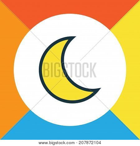 Premium Quality Isolated Moonbeam Element In Trendy Style.  Lunar Colorful Outline Symbol.